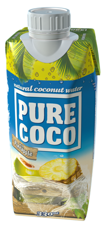 330mlPure Coco coconut water with pineapple flavor