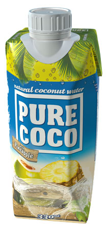330ml Pure Coco Acqua Di Cocco All'ananas