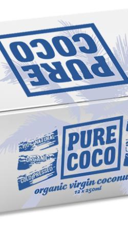 250mlKarton 12ks Pure Coco BIO kokosový olej
