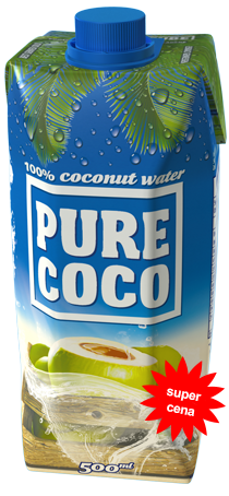 500ml Pure Coco coconut water
